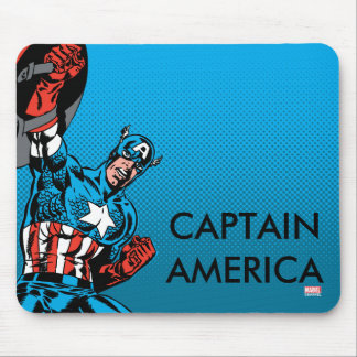 Captain America Shield Up Mouse Pad
