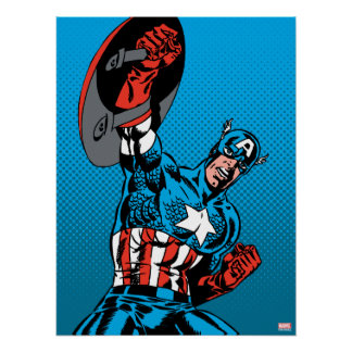 Captain America Shield Up Poster