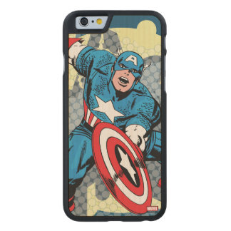 Captain America Star Carved Maple iPhone 6 Case