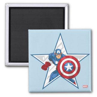 Captain America Star Graphic Magnet