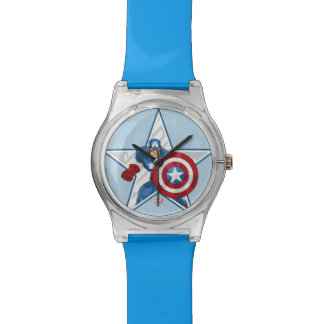 Captain America Star Graphic Wrist Watches