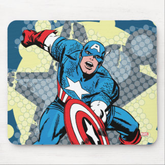 Captain America Star Mouse Pad