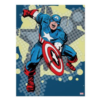 Captain America Star Poster