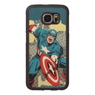 Captain America Star Wood Phone Case