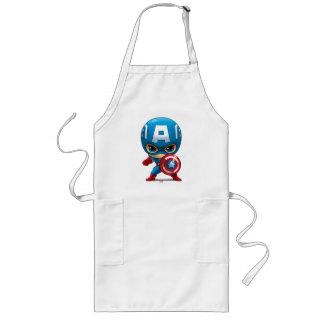 Captain America Stylized Art Long Apron