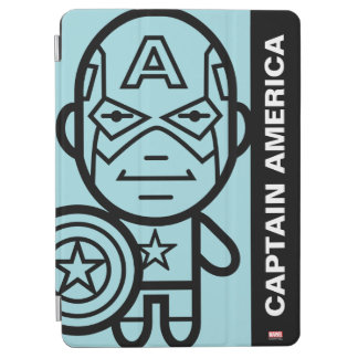 Captain America Stylized Line Art iPad Air Cover