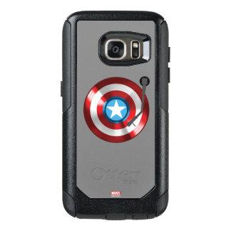 Captain America Vinyl Record Player OtterBox Samsung Galaxy S7 Case