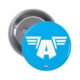 Captain America Winged Symbol 6 Cm Round Badge