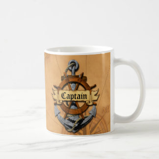 Captain Anchor And Wheel Coffee Mug