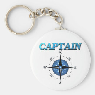 Captain And Compass Rose Key Ring