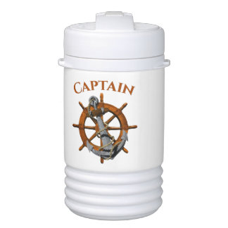 Captain And Nautical Anchor Cooler