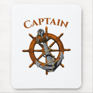 Captain And Nautical Anchor Mouse Pad