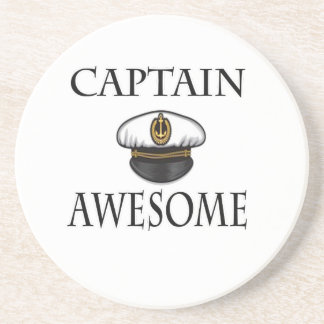 Captain Awesome Drink Coaster