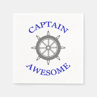 """""""CAPTAIN AWESOME"""" Paper Napkins"""
