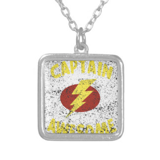 captain Awesome Silver Plated Necklace