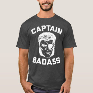 Captain Badass Charcoal Heather T-Shirt