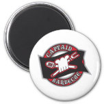 Captain Barbecue Refrigerator Magnets