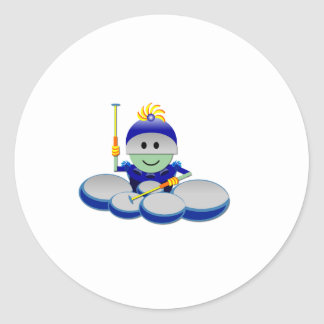 Captain Bok the Quads Space Guy From Outer Space Classic Round Sticker