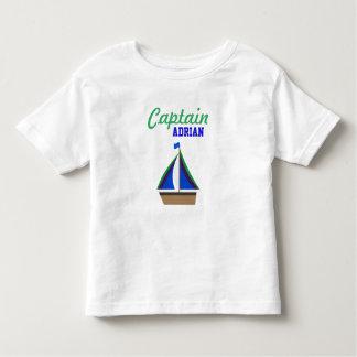 Captain Boy's Name Toddler T-Shirt