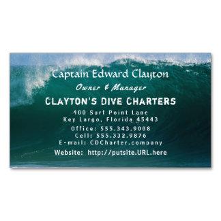 Captain Charter Big Wave Magnetic Business Card Magnetic Business Cards