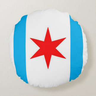 Captain Chicago Snuggle Shield Round Cushion