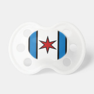 Captain Chicago White Shield Pacifier