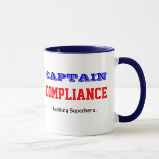 Captain Compliance Auditing Superhero Mug