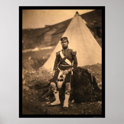 Captain Cuninghame Highlander 1855 Posters