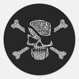 Captain Curly Round Sticker