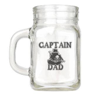Captain Dad -  Ghostly Galleon Mason Jar