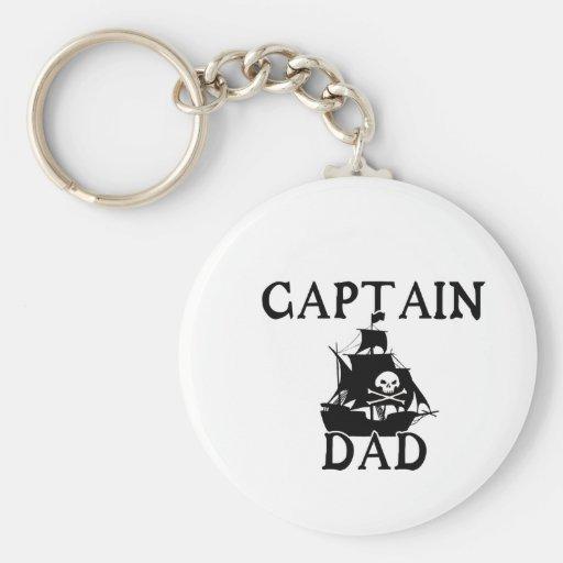 Captain Dad Keychain