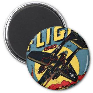 Captain Flight Vintage Golden Age Comic Book Magnet