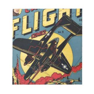 Captain Flight Vintage Golden Age Comic Book Notepad