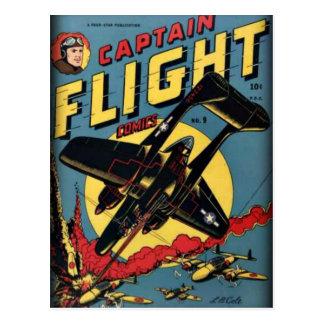 Captain Flight Vintage Golden Age Comic Book Postcard