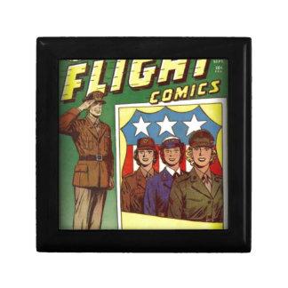Captain Flight Vintage Golden Age Comic Book Small Square Gift Box