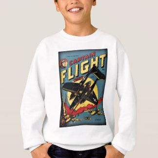 Captain Flight Vintage Golden Age Comic Book Sweatshirt