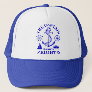 Captain Funny Trucker Hat