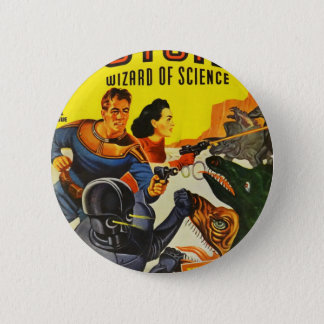 Captain Fure and the Space Dogs 6 Cm Round Badge