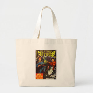 Captain Future and Solar Doom. Large Tote Bag