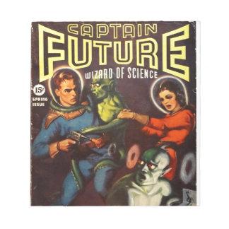 Captain Future and Solar Doom. Notepad