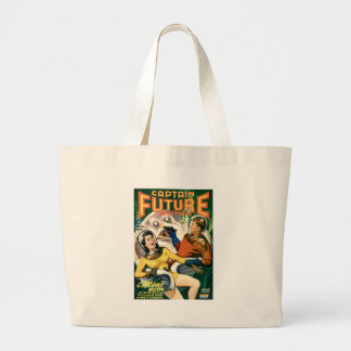 Captain Future and the Magic Moon Large Tote Bag