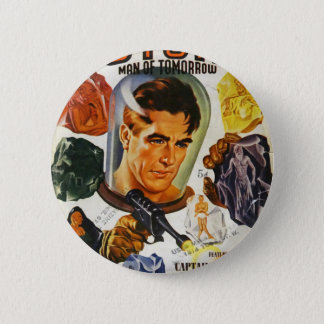 Captain Future and the Space Stones 6 Cm Round Badge