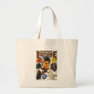 Captain Future and the Space Stones Large Tote Bag