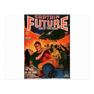 Captain Future and the Volcano Postcard