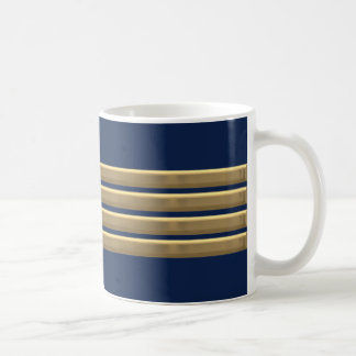 Captain gold stripes coffee mug