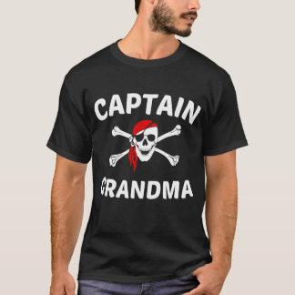 Captain Grandma Skull And Crossbones Pirate T-Shirt