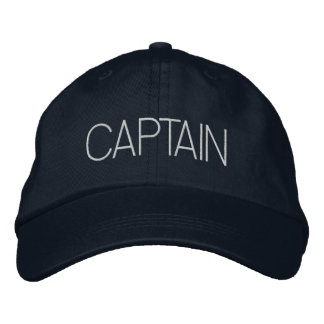 Captain Hat - boat captain, yacht gift, new boater Embroidered Cap