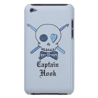 Captain Hook Skull & Crochet Hooks (Blue Back) Barely There iPod Case