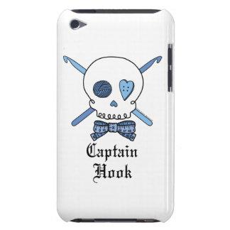 Captain Hook Skull & Crochet Hooks (Blue) Barely There iPod Cases