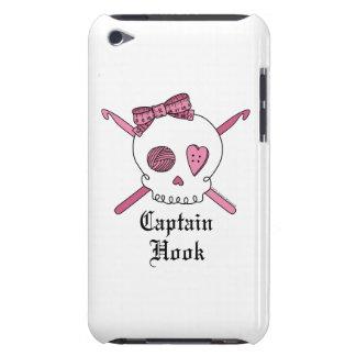Captain Hook Skull & Crochet Hooks (Pink) iPod Touch Case-Mate Case
